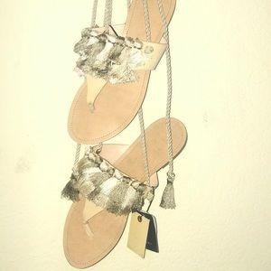 Zara Wrap-up Sandals- Never Worn